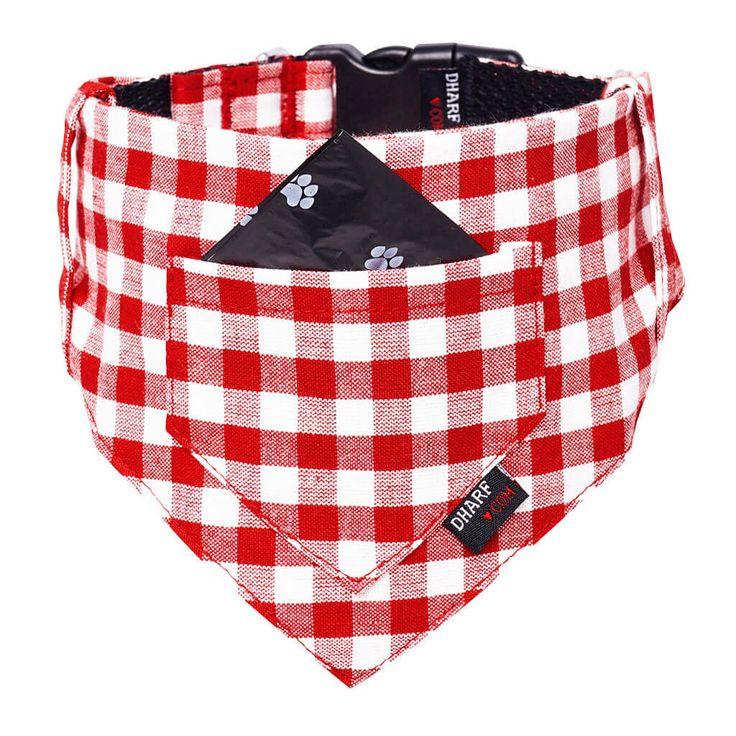 Trot with the lot in trendy RED CHECKS Dog Bandana/Collar & Leash Set with…