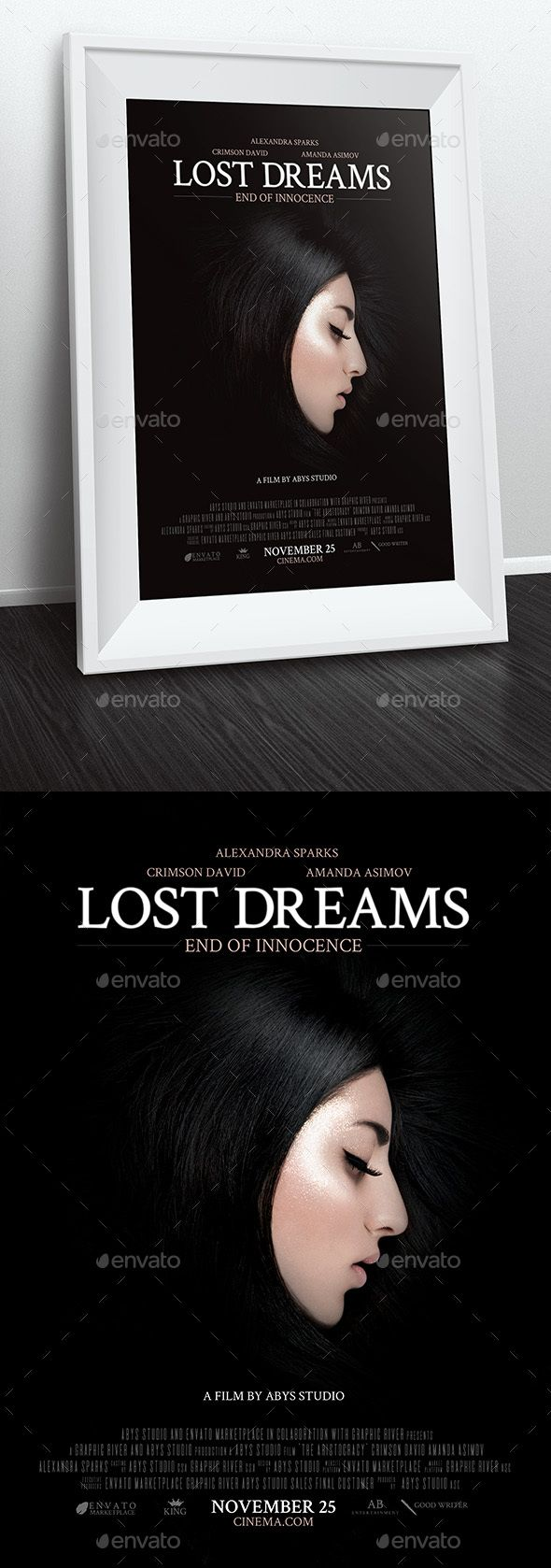 Lost Dreams Movie Poster Template