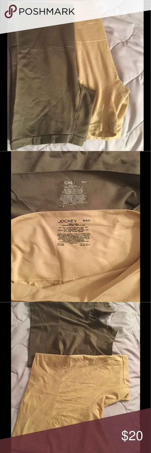 "Two Jockey shape wear One taupe, one beige jockey shape wear/spanx size medium. Worn the beige probably once and the taupe probably five times. They are a little shirt for me but extremely comfortable. The length is 13"" from top to bottom. Sold together but willing to split Jockey Intimates & Sleepwear Shapewear"