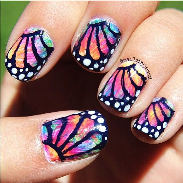 Butterfly Nail Art: 78 Best Images About Butterfly Nails On Pinterest