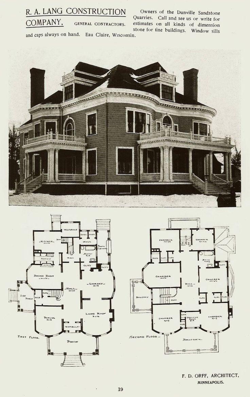 Exquisite Gothic Victorian Floor Plan That So Artsy Victorian House Plans Vintage House Plans Mansion Plans