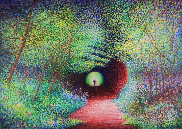 Buy Tunnel of Love, Acrylic painting by Simon Mark Knott on Artfinder. Discover thousands of other original paintings, prints, sculptures and photography from independent artists.