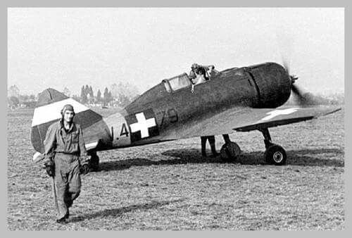 """MÁVAG Héja (""""Hawk"""") was a Hungarian fighter aircraft based on the Italian Reggiane Re.2000 around 200 built"""