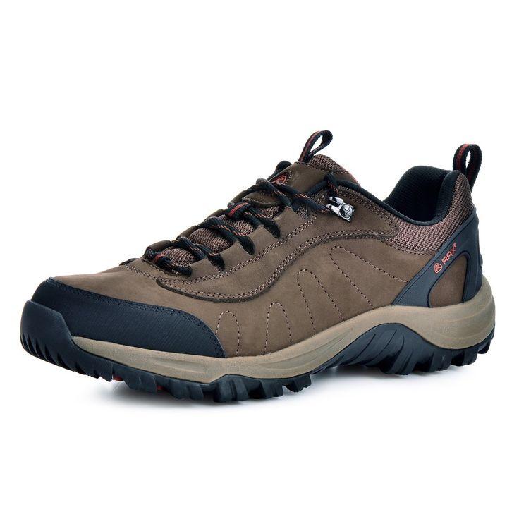 Rax uomini in pelle impermeabile antiscivolo scarpe da trekking uomini all'aperto trail campeggio arrampicata alpinismo scarpe da caccia 43-5c307