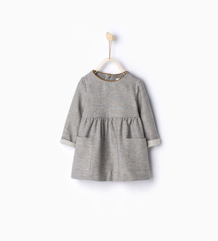 Dress with piped neckline-Dresses and Jumpsuits-Baby girl-Baby | 3 months - 3 years-KIDS | ZARA United States