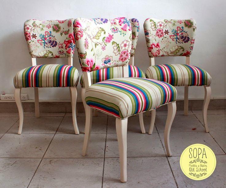 M s de 1000 ideas sobre sillas tapizadas en pinterest - Sillas restauradas ...