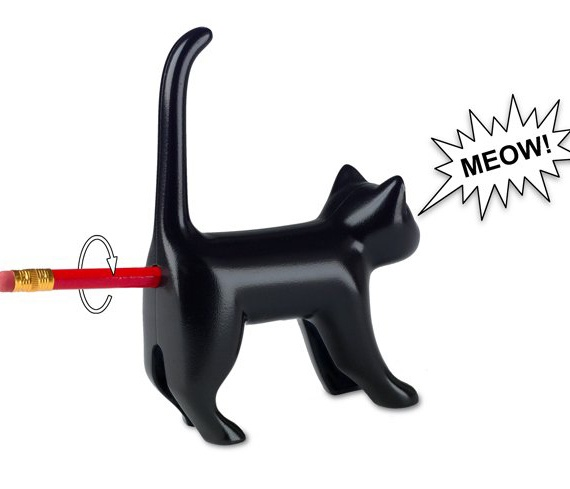 {Cat Pencil Sharpener} this made me cringe + LOL at the same