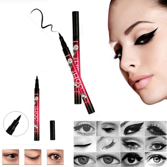 Professional Hot Sale Makeups Women Popular Waterproof Eyeliner vloeibare Beauty Tool Black zwarte Eye Liner Pencil