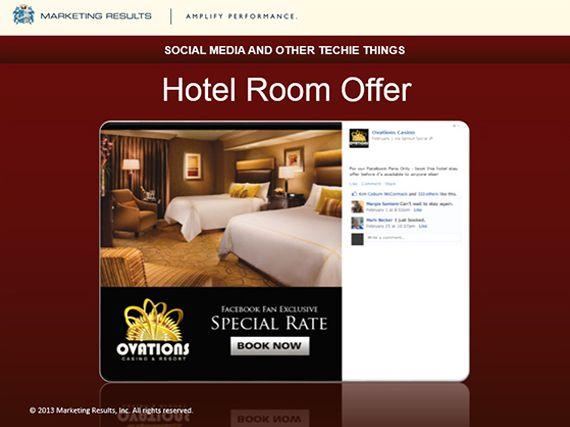 #MarketingResults - #OIGA2013 - #Hotel Room Offers