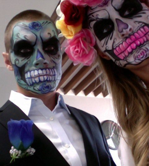 Day of the Dead costume. #halloween #day_of_the_dead #costume