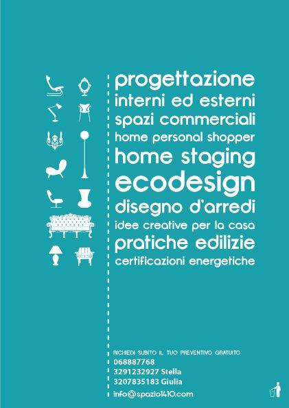 Spazio 14 10   architettura interni low cost - grafica - Roma ---LA TUA CASA HA BISOGNO DI UN NUOVO LOOK? Puoi avere un architetto di interni a tua disposizione! Studieremo la soluzione migliore per rendere belli e funzionali i tuoi spazi, senza dover affrontare una costosa ristrutturazione, con piccoli tocchi, soluzioni personalizzate e prezzi low cost! #progettazione #interni #commerciale #homepersonalshopper #homestaging #ecodesign #arredi