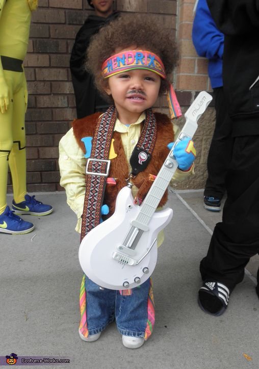 Jimi Hendrix Costume - 2013 Halloween Costume Contest via @costumeworks