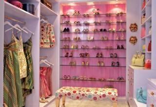 Decoração de closets femininos