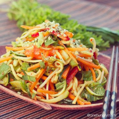 Crunchy Asian Salad with Vietnamese Herbs & Mango Ginger Dressing