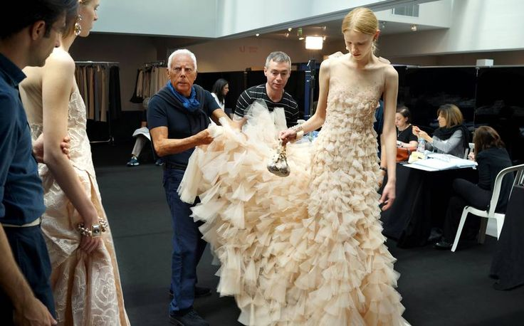 Inside the couture club: As he prepares to present a new #Armani Privé collection at the Paris haute couture shows next week, Giorgio Armani talks Tamsin Blanchard through the creation of the current collection, which at times seems an impossible feat of craftsmanship