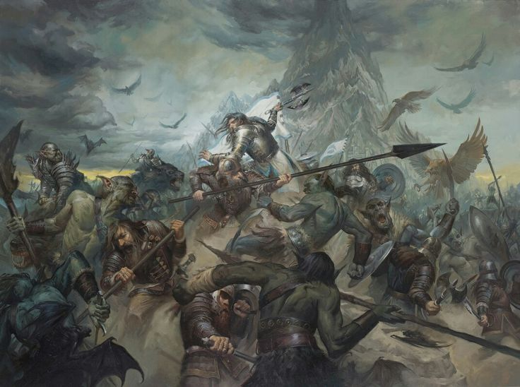 The Last Stand of Thorin Oakenshield by Lucas Graciano