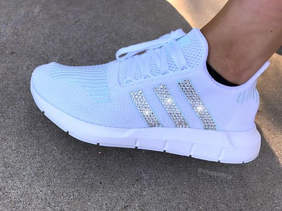 e3963cb46ffb Swarovski Women s Adidas Swift Run Casual Shoes in 2019