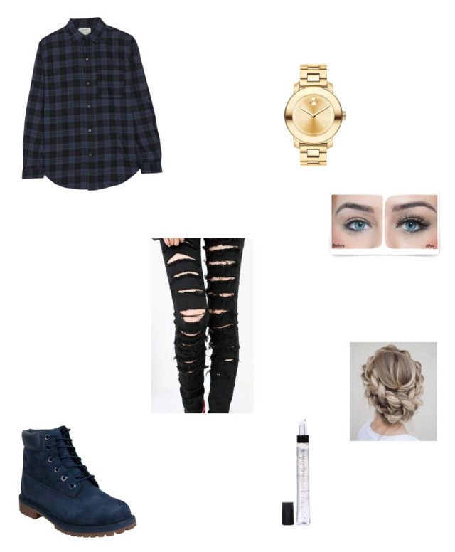 earned it //the weeknd by xxxlayxxx on Polyvore featuring polyvore fashion style Current/Elliott Timberland Movado Illamasqua Charlotte Russe clothing