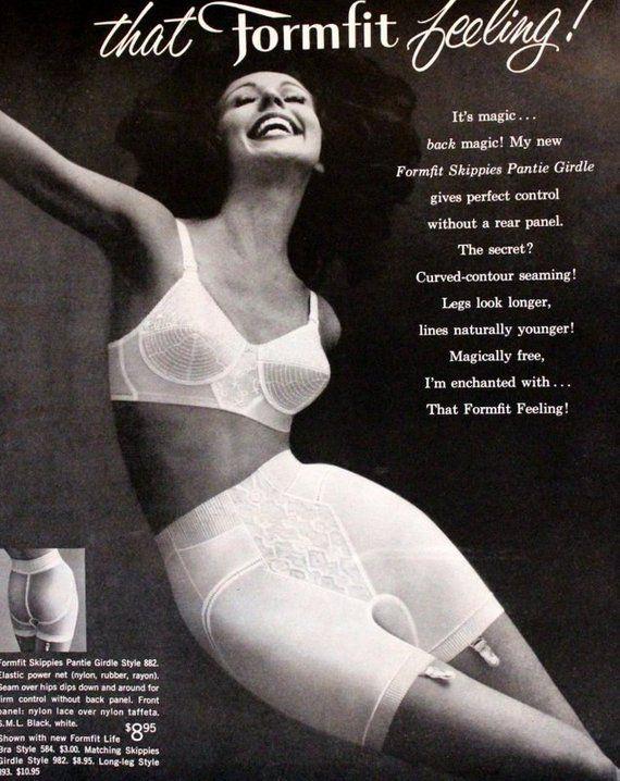 fd67b60a3e9d 1961 - Formfit Skippies Panty Girdle Ad - Vintage Retro Lingerie Magazine  Advertising - Mad Men Era