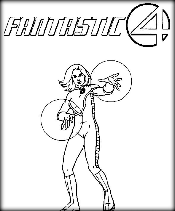 Fantastic Four Coloring Pages Fantastic Four Coloring Pages