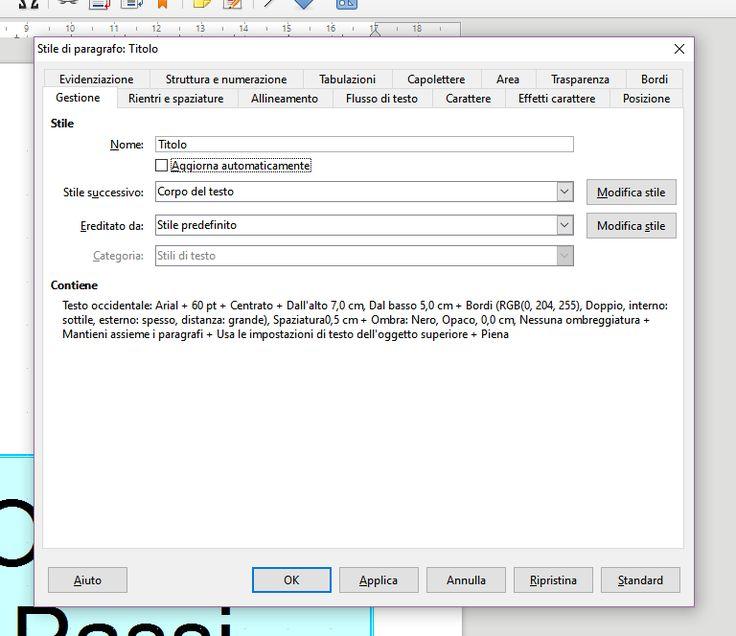 Secondo post sugli stili predefiniti di LibreOffice Writer Secondo post che parla di LibreOffice Writer, con particolare attenzione agli stili di paragrafo. Gli stili sono prototipi predefiniti che permettono di stabilire in anticipo una serie di caratterist #libreoffice #writer #tutorial #opensource