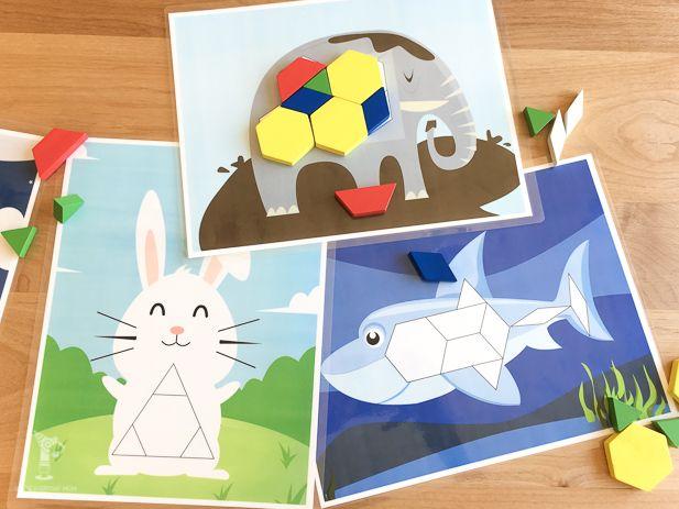 tangram activities | preschool math activities | tangram printables