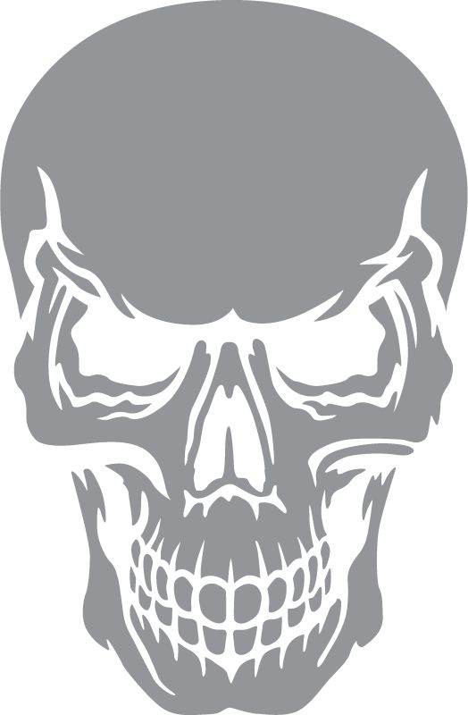 Skull with Angry Expression