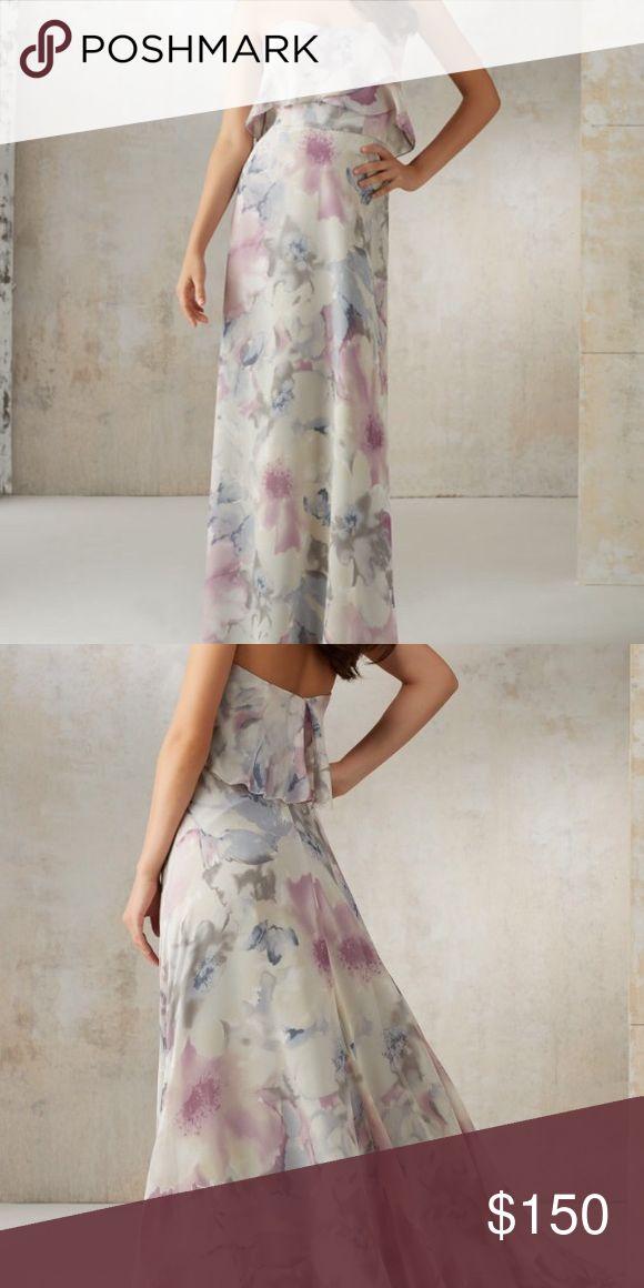 Mori Lee bridesmaid dress Floral dress. Never worn. Price tag attached Mori Lee Dresses Maxi