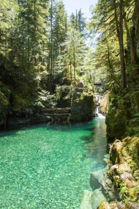 Opal Creek Scenic Area and Wilderness. It is located east of Salem, in the Willamette National Forest. Opal Creek runs through thousands of acres of protected old growth forest, crisscrossed with over 30 miles of hiking trails. With its pristine lakes and waterfalls ...