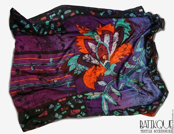 "Купить Батик Палантин ""Цветок Востока"" - фуксия, цветочный, орнамент, восток, восточный орнамент"