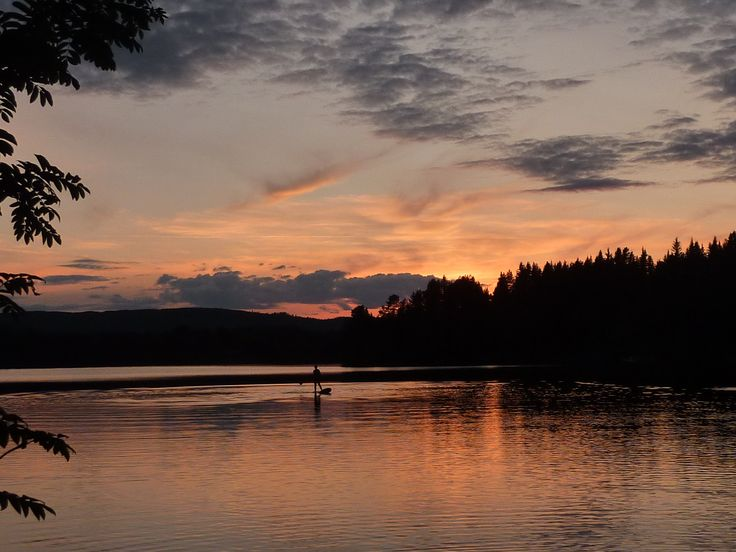 Underbar sommarkväll på egen stranden Frönäset Ängersjö sommar 2014
