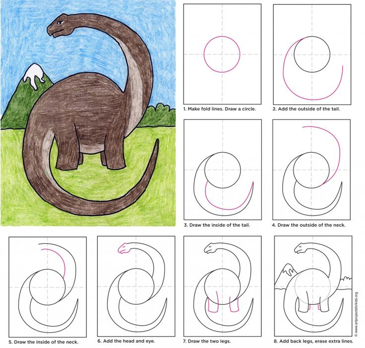 Here's one way to draw a Diplodocus, or Long Neck, if you are a Land Before Time fan. It's the best way I know to fill the paper with one of the world's l-o-n-g-e-s-t animals. • View and download Diplodocus Tutorial