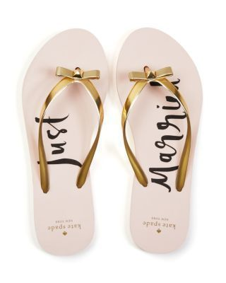 Just Married Flip Flops - honeymoon essential for the bride