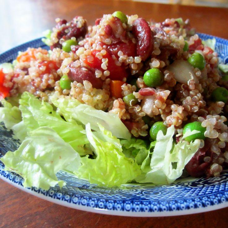 High Protein Mediterranean Salad {Trim Healthy Mama, Gluten Free, Dairy Free, Vegan, Vegetarian, Sugar Free}