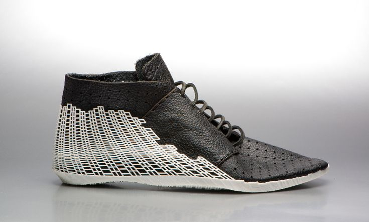 Parametrically combining a handmade object (leather shoe) with a digitally produced object (3D print) to fit unique users. - Katy