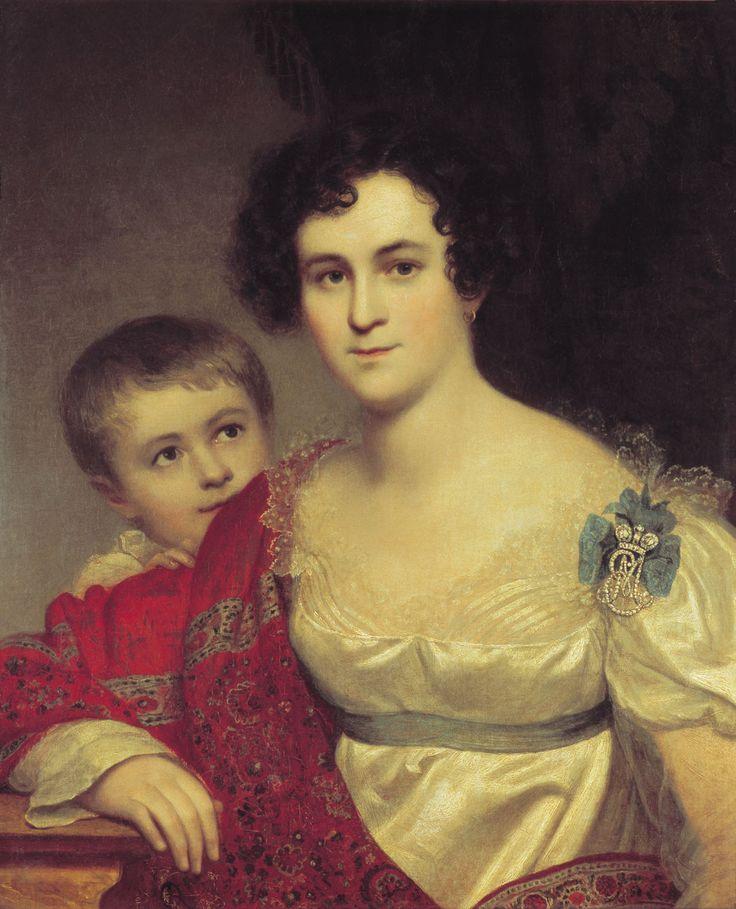 1814 Avdotya Molchanova Ivanovna, with her daughter Elizabeth by Orest Kiprensky (location unknown to gogm)   Grand Ladies   gogm