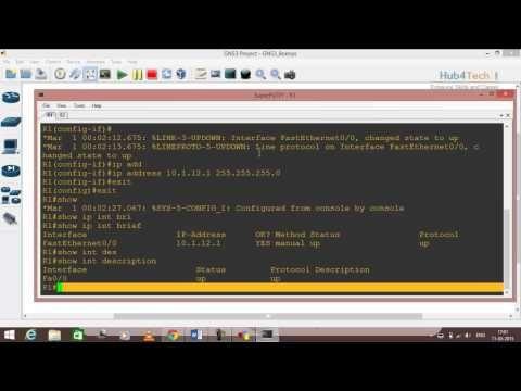 1.CCNA R&S Tutorial Course - Basic Router configuration
