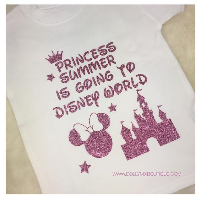 Anybody else off to #DISNEY this year? 🏰💖 CREATE YOUR OWN TSHIRT for any occasion via our website >>> www.dollymixboutique.com