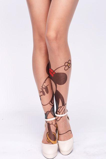 Cartoon Character (Minnie Mouse) Tattoo Tights ||from $16 @amazon http://www.amazon.com/gp/product/B00BJB7656