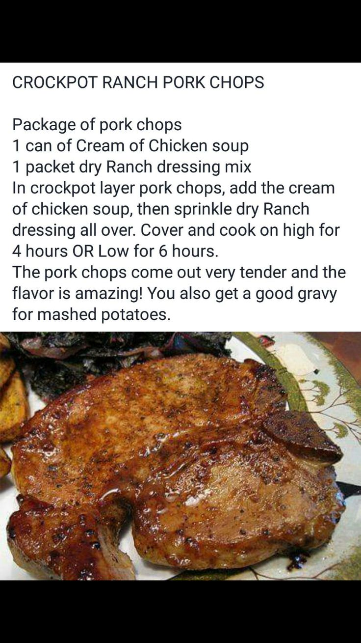 Ranch pork chops in the crock pot?!