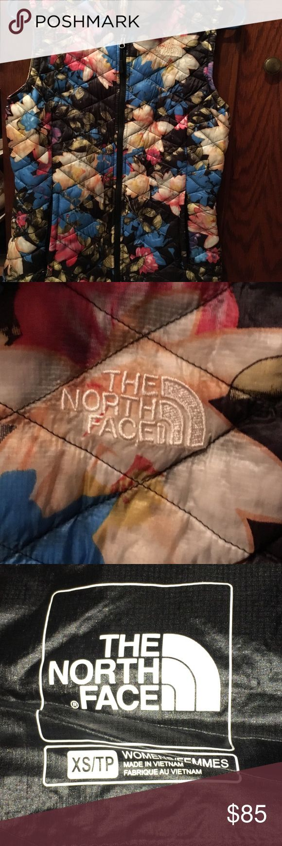 The north face floral vest The north face floral quilted zip up vest   Super cute wore a handful of times. Excellent condition The North Face Jackets & Coats Vests