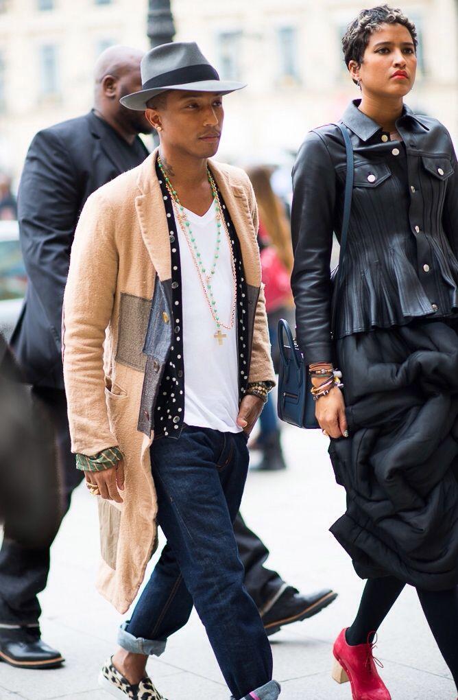 Pharrell Love this look!!