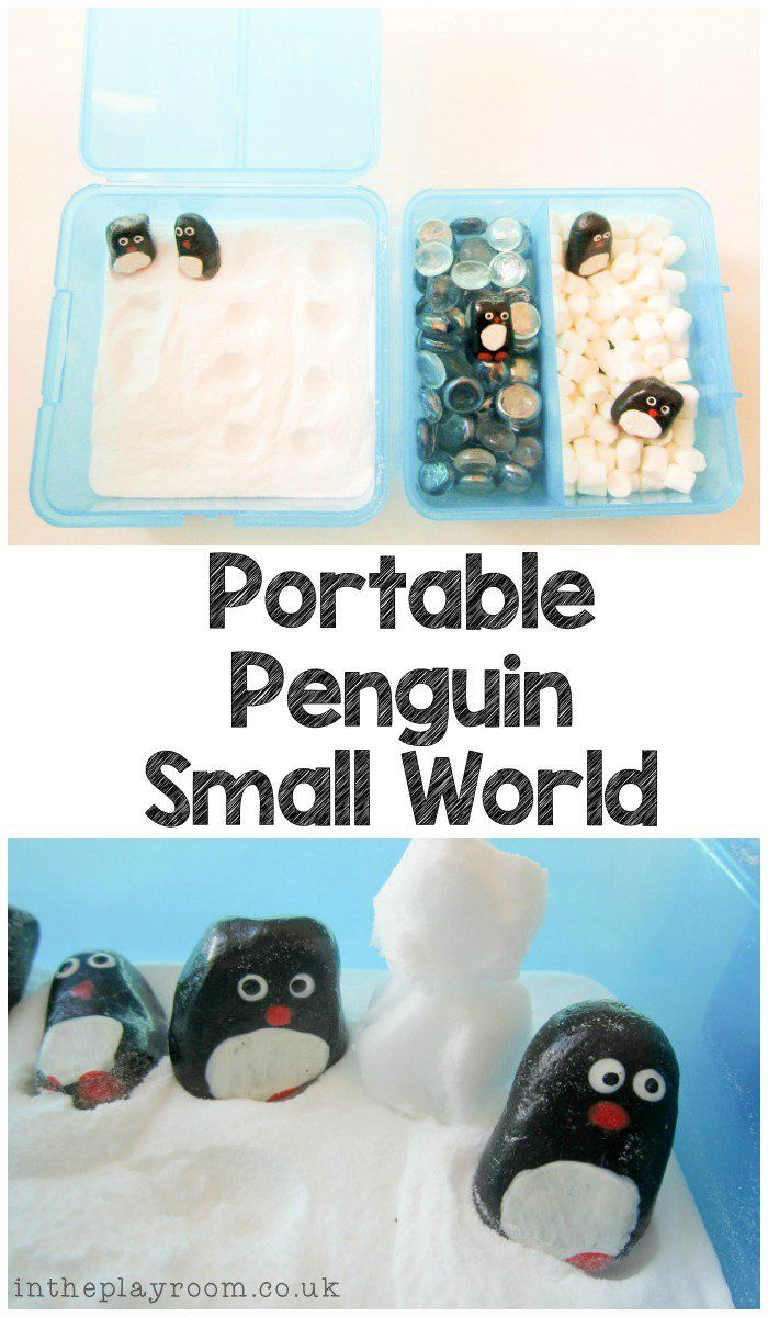 Portable Penguin Small World for sensory play and imaginary play