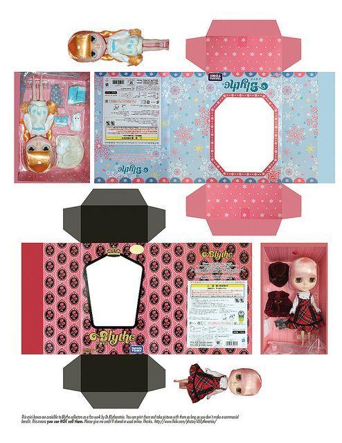 Картинки коробочек для кукол