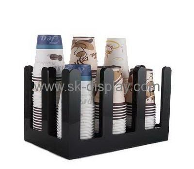 Acrylic display manufacturers customized acrylic plastic cup holders for disposable cups SOD-195