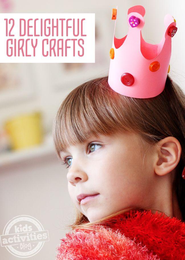 12 Delightful Girly Crafts - Kids Activities Blog