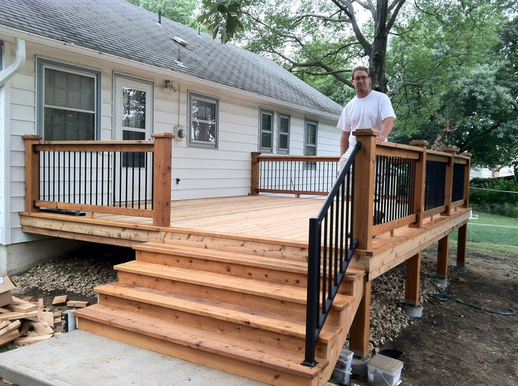 A small back deck home design pinterest decking for House plans with decks