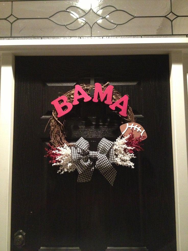 My Alabama football wreath I made!!!