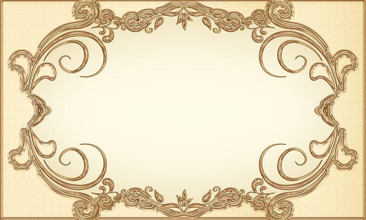 digital vintage gold frame - Google Search