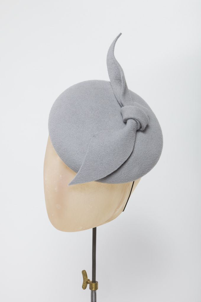 Click in pale grey- Rachel Black Millinery